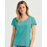 Ladies` Midweight V-Neck Tee