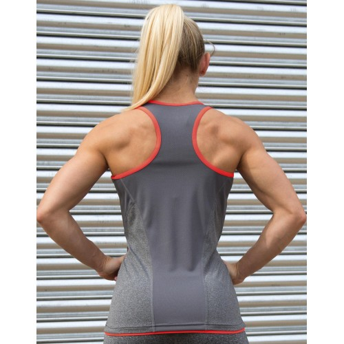 Fitness Women`s Stringer Back Marl Top