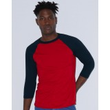 Unisex Poly-Cotton 3/4 Sleeve Raglan T-Shirt