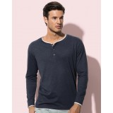 Luke Long Sleeve Henley T-shirt Men
