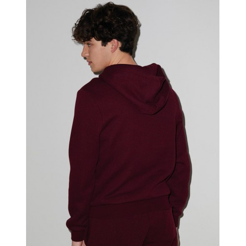 Unisex Mock Twist Hooded Sweat