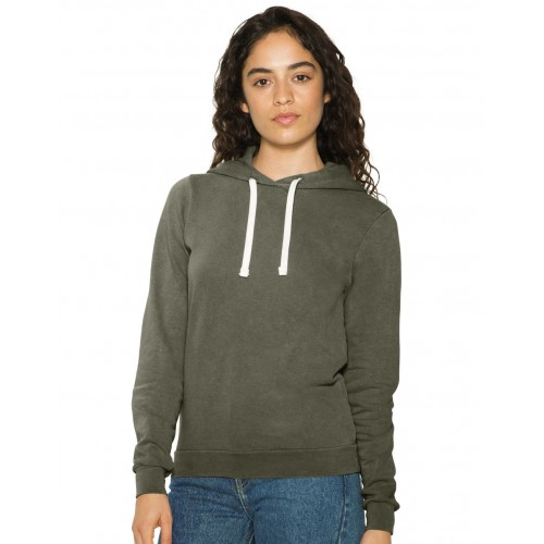 Women`s French Terry Garment Dyed Hoodie