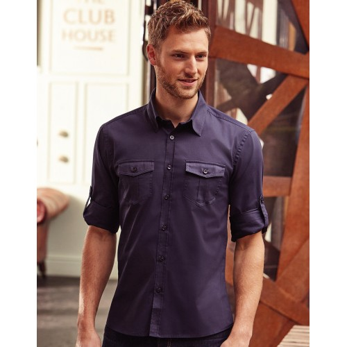 Men`s Roll Sleeve Shirt LS