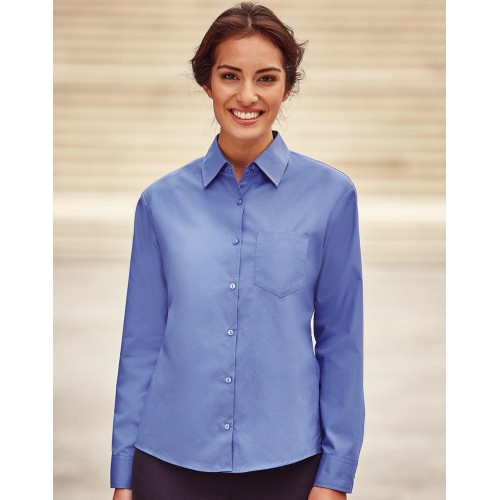 Ladies` Cotton Poplin Shirt LS