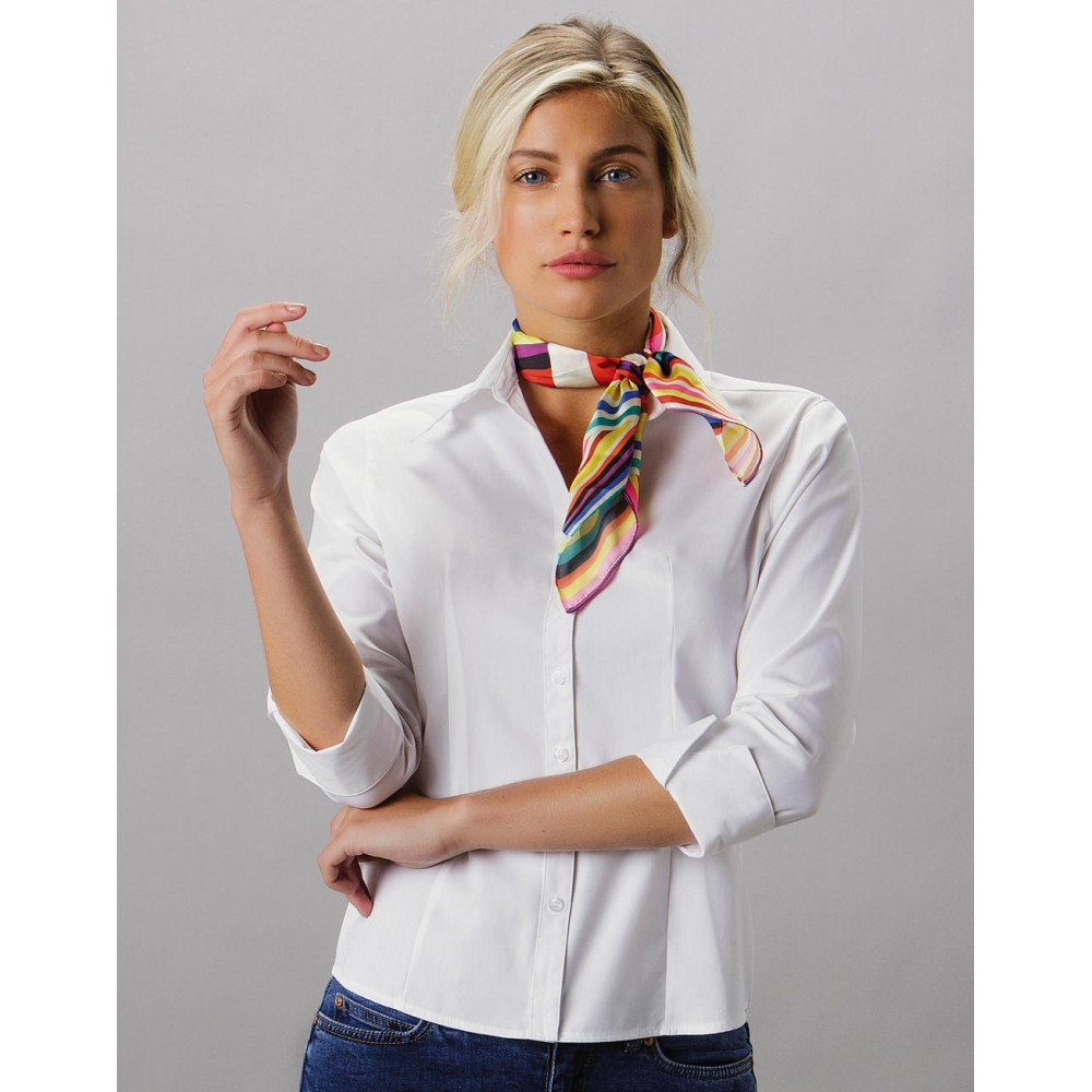 Women`s Tailored Fit Premium Oxford 3/4 Shirt
