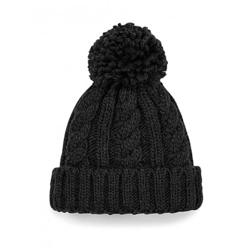 Infant/Junior Cable Knit Melange Beanie