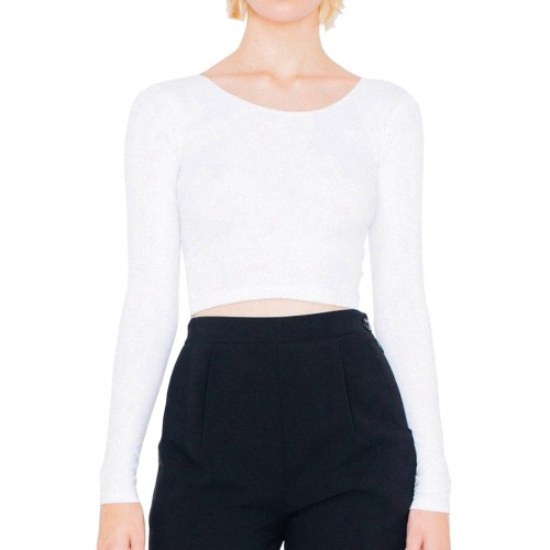 Women`s Jersey LS Crop Top